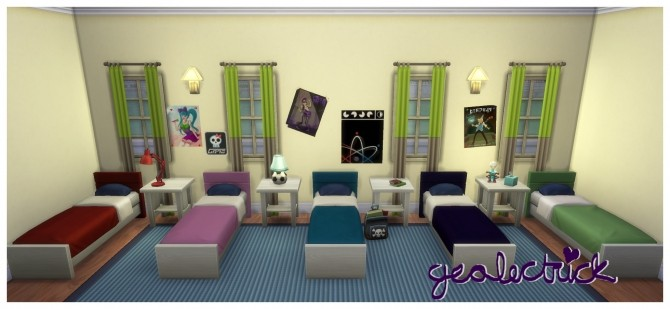 Sims 4 Stencil free and Recolored Teen Dreams Bed by geolectrick at Mod The Sims