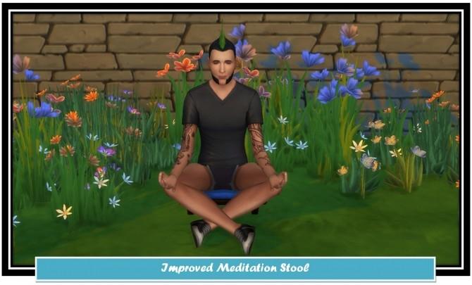 Sims 4 Improved Meditation Stool by LittleMsSam