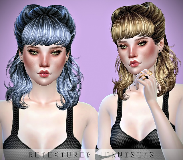Newsea Hedonism and Roll Cake Hair retextures at Jenni Sims image 1827 Sims 4 Updates