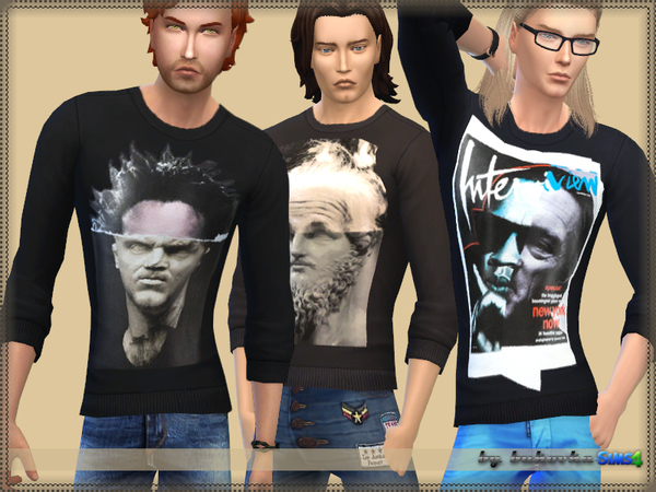 Sims 4 Sweater print 1 by bukovka at TSR