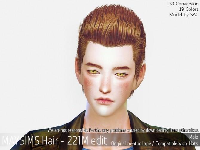 Sims 4 Hair 221M edit (Lapiz) at May Sims