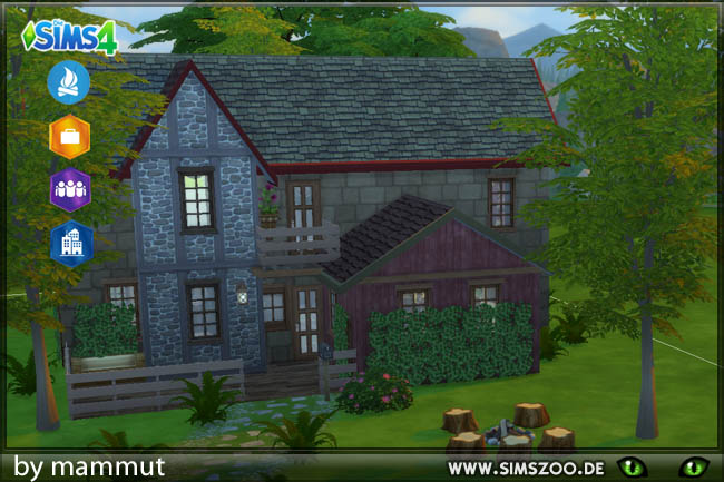 Sims 4 Farmhouse by mammut at Blacky's Sims Zoo