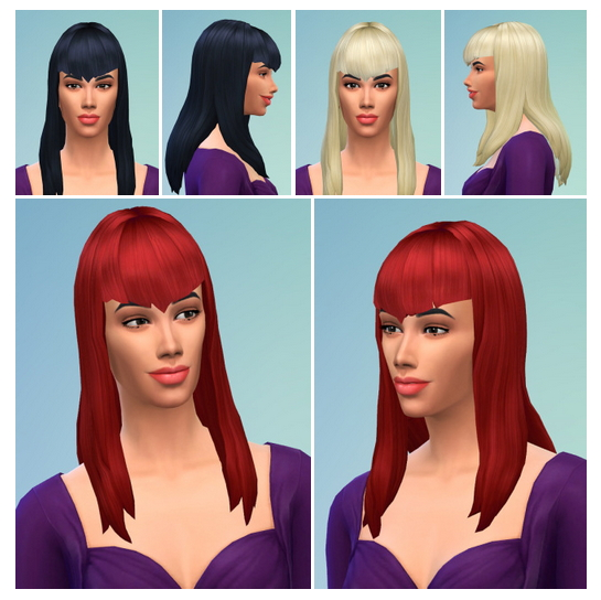 Sims 4 Vampires Heart Bangs at Birksches Sims Blog
