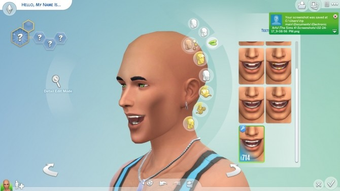 Silver Teeth by aduncan at Mod The Sims image 1859 670x377 Sims 4 Updates