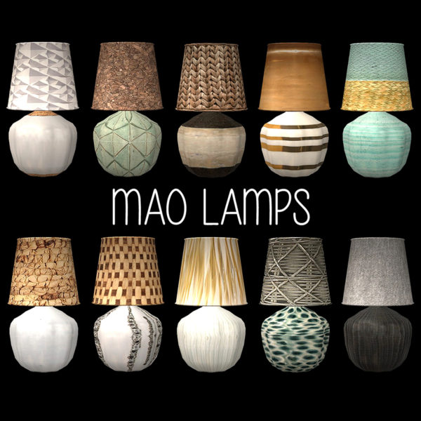 Mao Table Lamp at Leo Sims image 1886 Sims 4 Updates