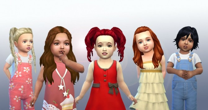 Sims 4 Toddlers Hair Pack 4 at My Stuff