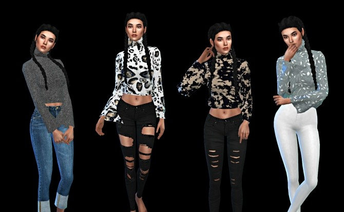Sims 4 Bell Sleeve Top at Leo Sims