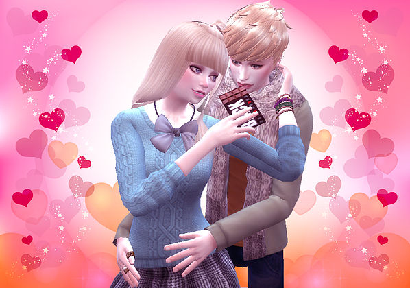 Valentine's Day pose 02 at A luckyday image 1904 Sims 4 Updates