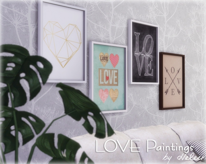 Love Paintings At Helen Sims 187 Sims 4 Updates