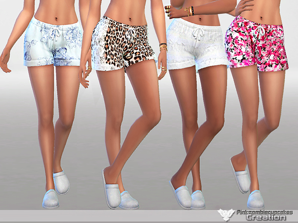 Sims 4 Pyjama Shorts Pack Waiting for Spring by Pinkzombiecupcakes at TSR