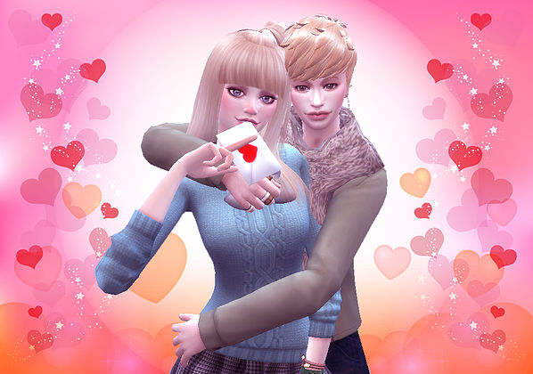 Sims 4 Valentine's Day pose 02 at A luckyday
