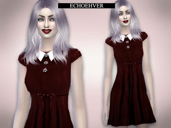 Sims 4 Vampire Doll Dress by Echoehver at TSR