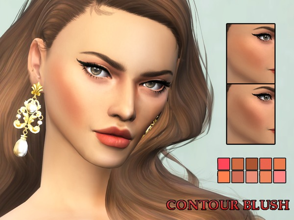 KM Contour Blush by Kitty.Meow at TSR image 1929 Sims 4 Updates