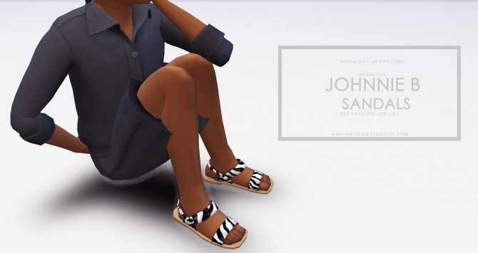 Johnnie B Sandals for Little Girls at Onyx Sims image 1949 670x355 Sims 4 Updates