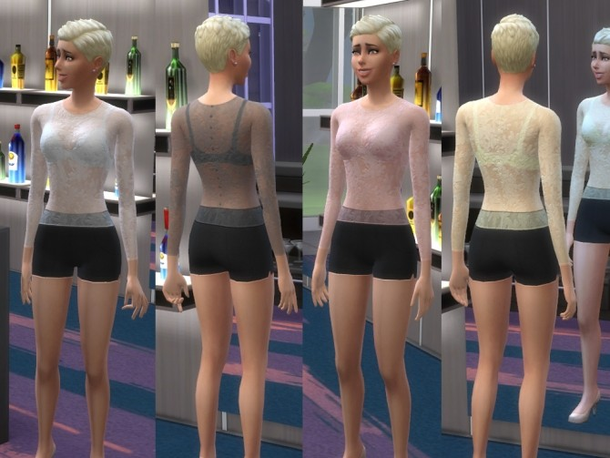 Lace top & Shorts Set for Female by play jarus at Mod The Sims image 1959 670x503 Sims 4 Updates