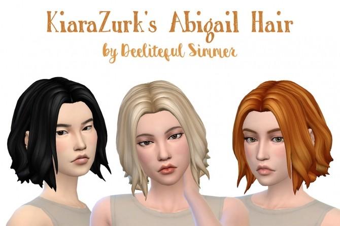 Sims 4 Kiara Zurks Abigail hair retexture at Deeliteful Simmer