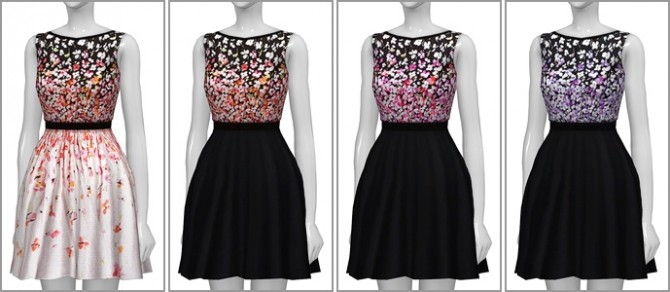 Black cherry blossom dress at Rusty Nail image 1977 670x292 Sims 4 Updates