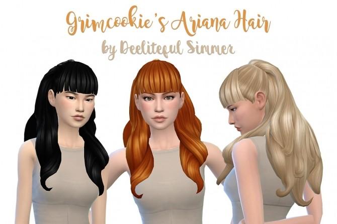 Sims 4 Grimcookies Ariana hair recolors at Deeliteful Simmer