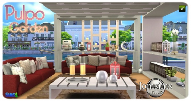Pulpo Garden set at Jomsims Creations image 2008 670x355 Sims 4 Updates