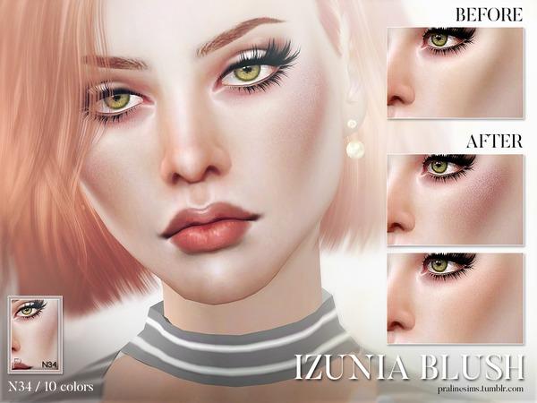 Sims 4 Izunia Blush N34 by Pralinesims at TSR
