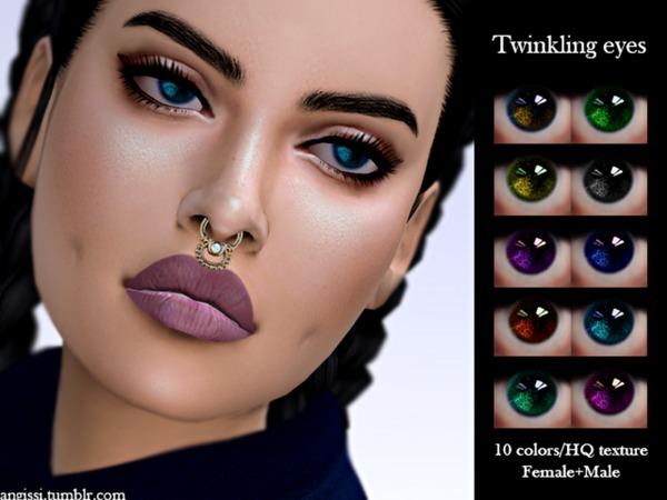 Twinkling eyes by ANGISSI at TSR image 2030 Sims 4 Updates