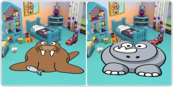 Toddlers Animals Rugs at Annett's Sims 4 Welt image 2036 670x336 Sims 4 Updates