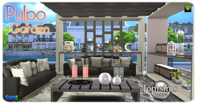 Pulpo Garden set at Jomsims Creations image 2039 670x355 Sims 4 Updates