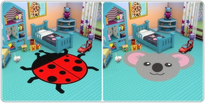 Toddlers Animals Rugs at Annett's Sims 4 Welt image 2044 670x336 Sims 4 Updates