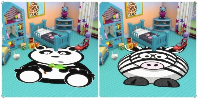 Sims 4 Toddlers Animals Rugs at Annett's Sims 4 Welt