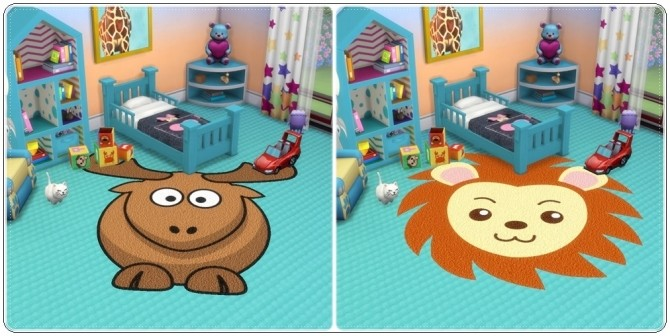 Toddlers Animals Rugs at Annett's Sims 4 Welt image 2066 670x336 Sims 4 Updates