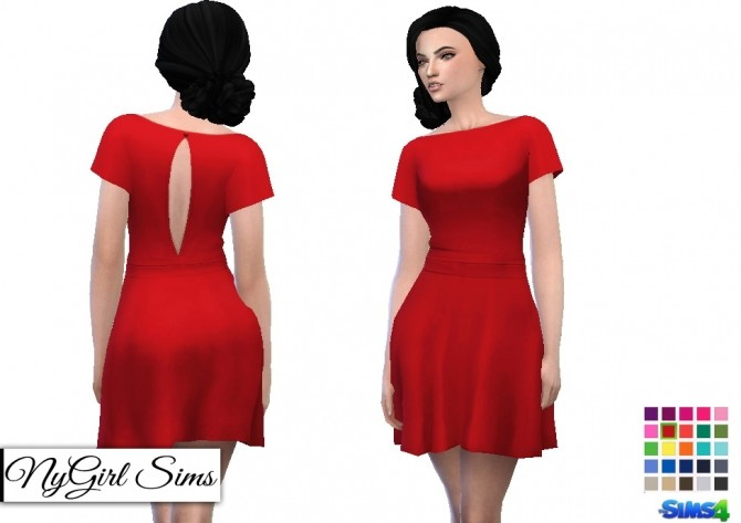 Butterfly Sleeve Dress at NyGirl Sims image 2074 670x473 Sims 4 Updates