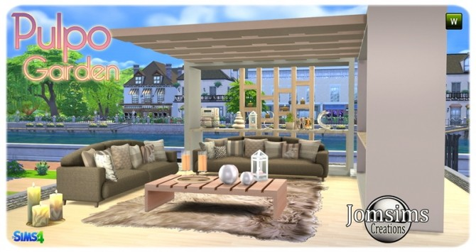 Pulpo Garden set at Jomsims Creations image 2086 670x355 Sims 4 Updates