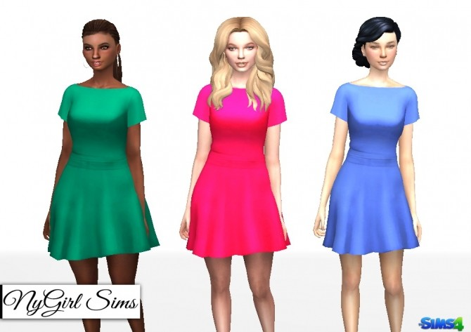 Butterfly Sleeve Dress at NyGirl Sims image 2094 670x473 Sims 4 Updates