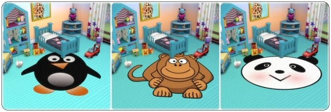 Toddlers Animals Rugs at Annett's Sims 4 Welt image 2095 670x227 Sims 4 Updates