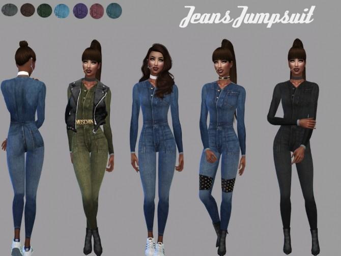 Sims 4 Denim jumpsuit at Teenageeaglerunner