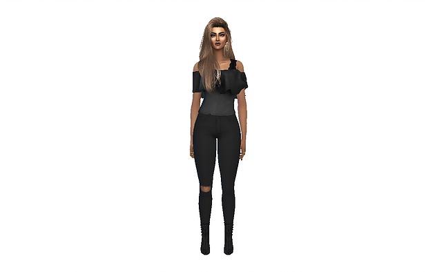 Sims 4 Hailey Scott at PortugueseSimmer