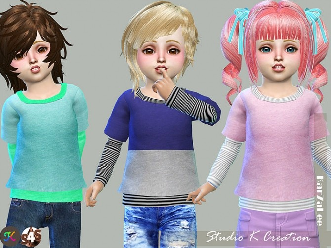 Giruto 13 Layer Tee solid at Studio K Creation image 21310 670x502 Sims 4 Updates
