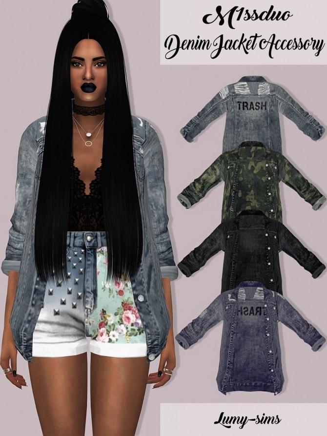 Sims 4 M1ssduo Denim Jacket at Lumy Sims