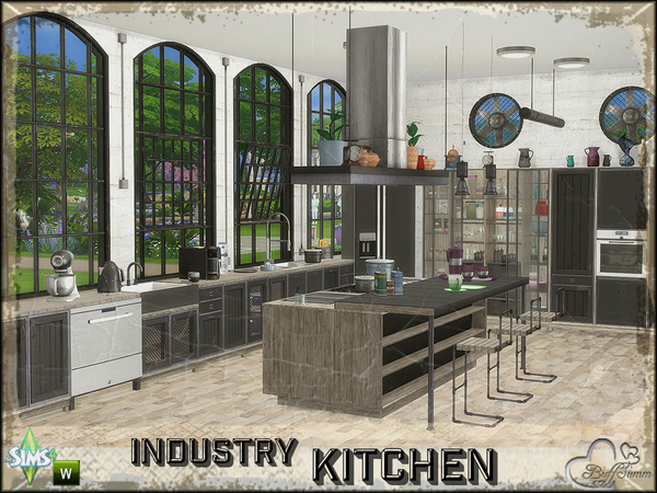 Industry Kitchen by BuffSumm at TSR image 2137 Sims 4 Updates