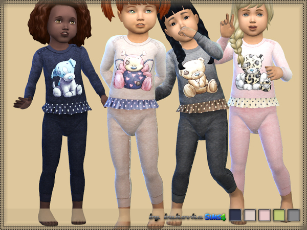 Sims 4 Jumpsuit Animals by bukovka at TSR