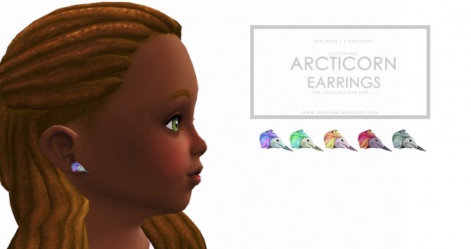 Sims 4 Arcticorn Earrings at Onyx Sims