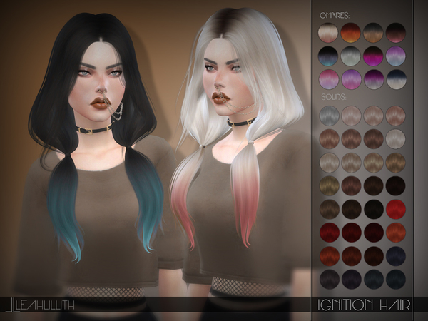 Sims 4 Ignition Hair by Leah Lillith at TSR