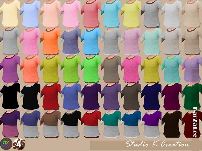 Giruto 13 Layer Tee solid at Studio K Creation image 2148 670x502 Sims 4 Updates