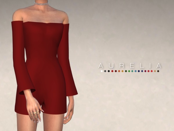Sims 4 Aurelia Playsuit by Christopher067 at TSR