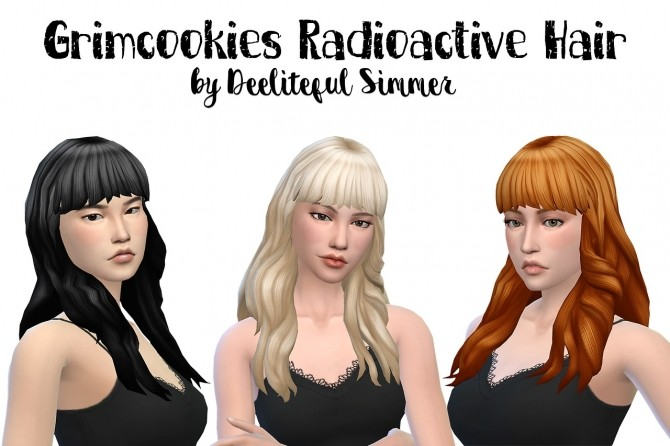 Sims 4 Grimcookies Radioactive hair recolors at Deeliteful Simmer