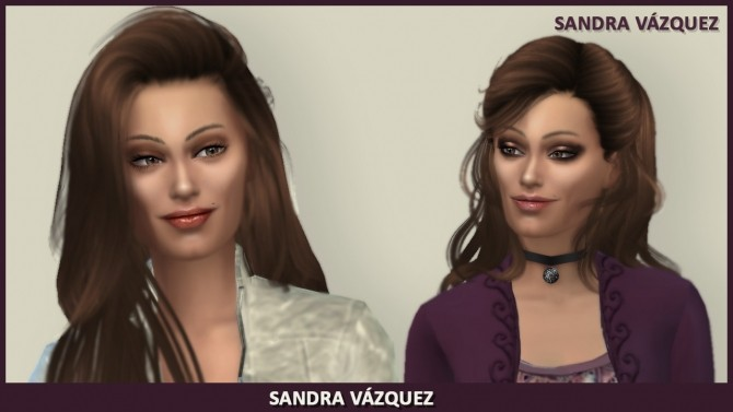 Sims 4 Sandra Vázquez by Mary Jiménez at pqSims4