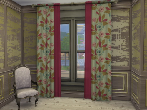 RC Flowerful Curtains 2 at ChiLLis Sims image 2233 Sims 4 Updates