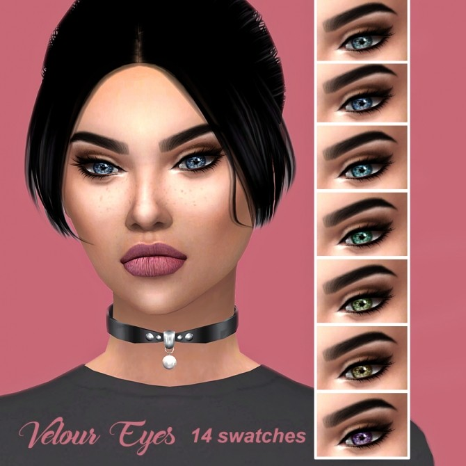 Velour Eyes at Kenzar Sims image 2244 670x670 Sims 4 Updates
