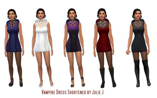 Sims 4 Vampire Dress Shortened at Julietoon – Julie J
