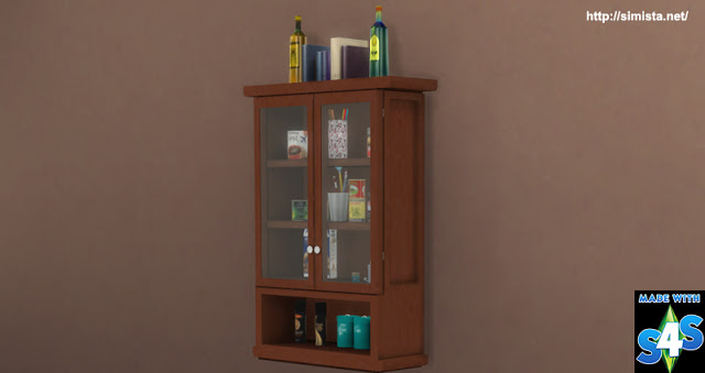 Sims 4 Glass Wall Cabinet at Simista